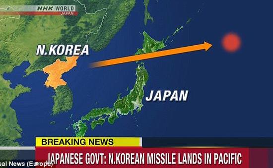 Nhật Bản lên án vụ phóng tên lửa của Triều Tiên