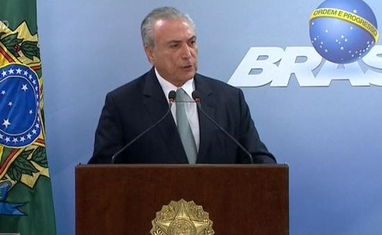 Thị trường tài chính Brazil lao dốc sau khi Tổng thống Temer bị điều tra