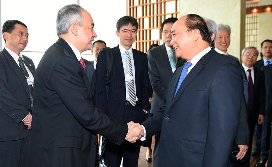 Thủ tướng tiếp lãnh đạo các tập đoàn thành viên dự WEF