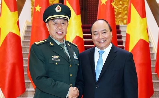 Thủ tướng tiếp đoàn Quân ủy Trung ương Trung Quốc
