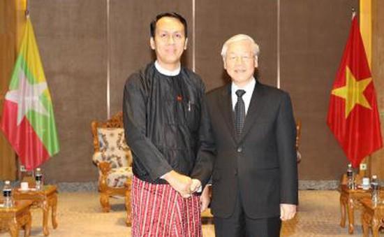 Tổng Bí thư tiếp Thủ hiến vùng Yangon, Myanmar