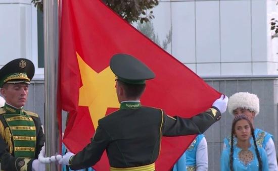 Lễ thượng cờ của Đoàn thể thao Việt Nam tham dự Đại hội thể thao trong nhà và võ thuật châu Á 2017