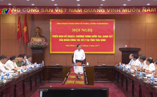 Triển khai kế hoạch kiểm tra, giám sát việc xử lý các vụ án tham nhũng nghiêm trọng tại Thái Bình
