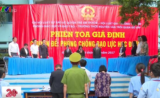 TP.HCM: Tuyên truyền chống bạo lực học đường bằng phiên tòa giả định