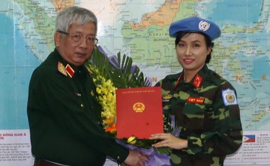 Việt Nam cử nữ sỹ quan tham gia lực lượng gìn giữ hòa bình Liên Hợp Quốc