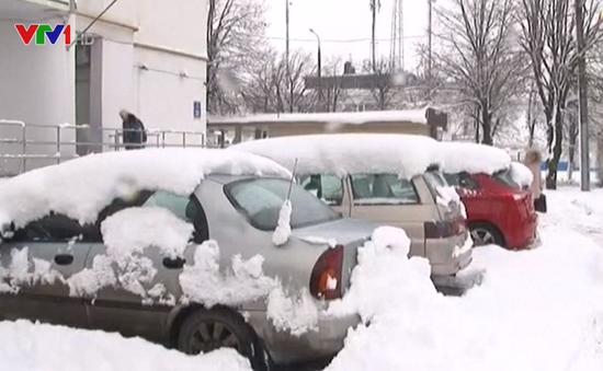 Tuyết rơi bất thường ở châu Âu