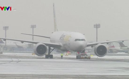 Đức hủy hàng trăm chuyến bay do tuyết rơi dày