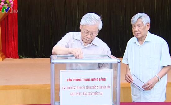 Văn phòng Trung ương Đảng ủng hộ đồng bào vùng lũ phía Bắc