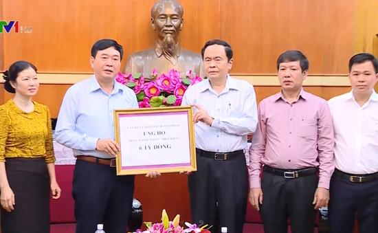 Mặt trận Tổ quốc Việt Nam tiếp nhận ủng hộ đồng bào miền Trung
