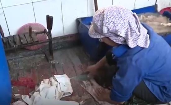 Giật mình với nguyên liệu bốc mùi làm nên món bóng bì ở Hưng Yên
