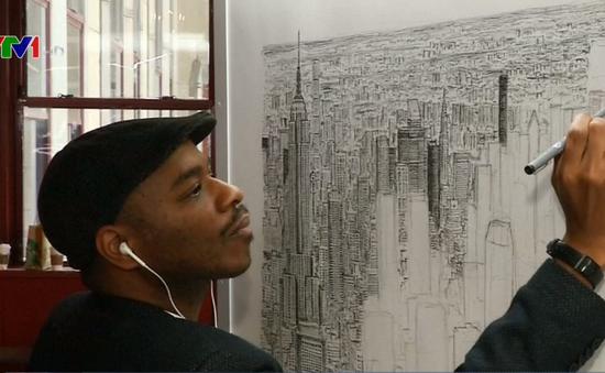 Chàng trai vẽ lại thành phố New York bằng trí nhớ siêu phàm