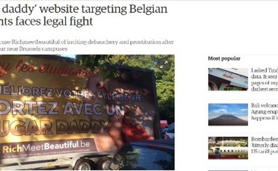 Trang web của Bỉ bị lên án vì cổ xúy mại dâm