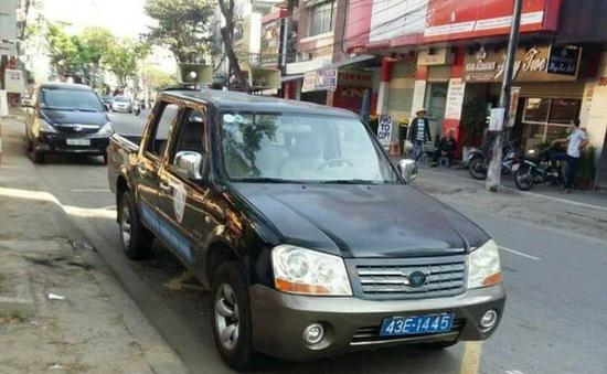 Cảnh sát giao thông Đà Nẵng tiếp tục xử lý xe biển xanh vi phạm