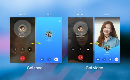 Zalo cập nhật diện mạo mới cho cuộc gọi thoại và video