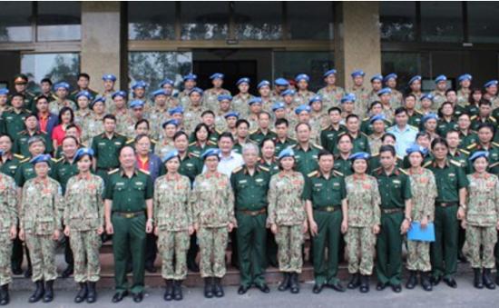 Lực lượng Bệnh viện dã chiến cấp 2 số 1 lên đường làm nhiệm vụ tại Nam Sudan