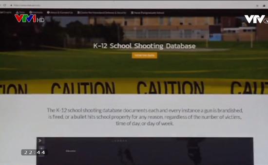 Cựu sinh viên Mỹ tạo kho dữ liệu trực tuyến về xả súng trong trường học