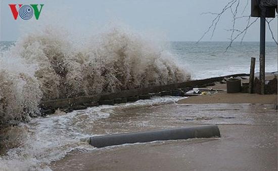 Không khí lạnh gây biển động trên vịnh Bắc Bộ