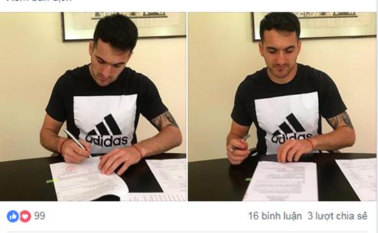 V.League: Tiền đạo Matias Jadue ký hợp đồng mới với CLB TP Hồ Chí Minh