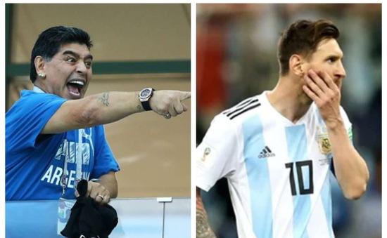 Maradona tiết lộ gây sốc về sự yếu đuối của Messi