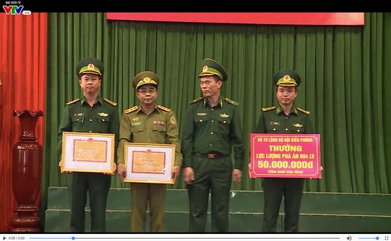 Bộ Tư Lệnh Biên Phòng trao thưởng bắt 2 chuyên án ma túy