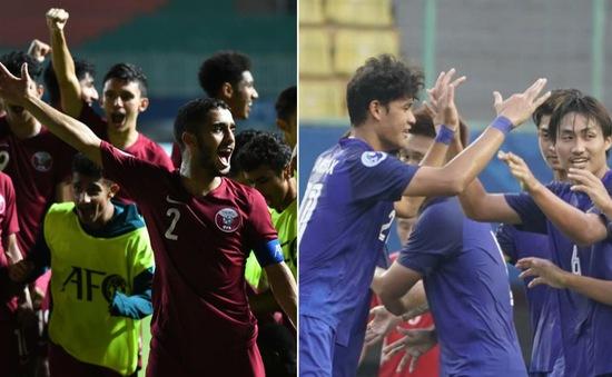Lịch thi đấu và trực tiếp vòng tứ kết U19 châu Á 2018 ngày 28/10: U19 Qatar - U19 Thái Lan, U19 Nhật Bản - U19 Indonesia