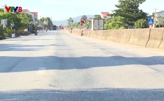Tuyến Quốc lộ 1A qua Hà Tĩnh bị hằn lún nghiêm trọng