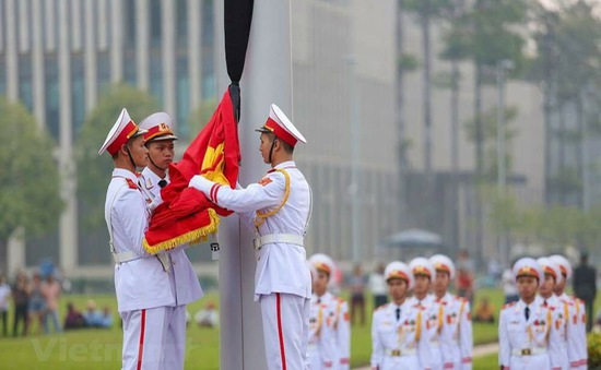 Lễ thượng cờ rủ quốc tang đồng chí Đỗ Mười