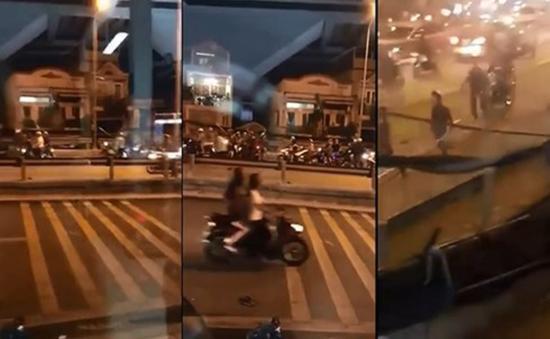 TP.HCM: Hai nhóm thanh niên hỗn chiến trên cầu Nhị Thiên Đường