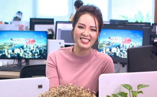 """MC Thụy Vân thử thách khán giả """"Ngã sao cho sang"""""""
