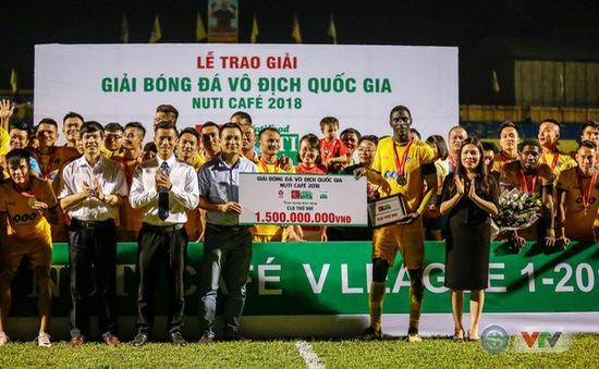 ẢNH: Ngoại binh toả sáng, FLC Thanh Hoá giành ngôi Á quân V.League 2018