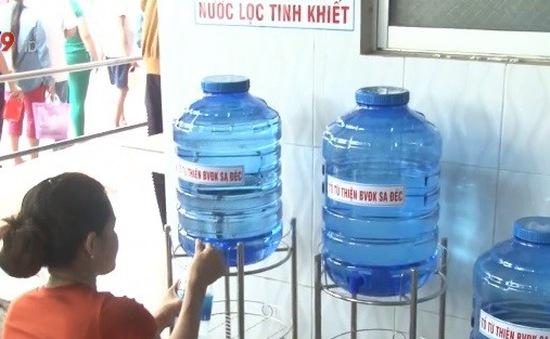 Đồng Tháp: Lắp máy lọc nước tinh khiết phục vụ bệnh nhân