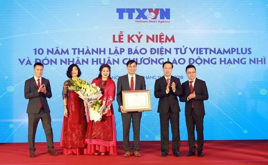 VietnamPlus kỷ niệm 10 năm thành lập và đón nhận Huân chương Lao động hạng Nhì