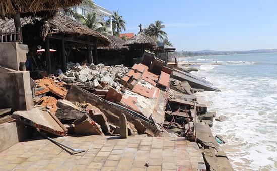 Hàng loạt resort ở bờ biển Phan Thiết bị uy hiếp vì sạt lở