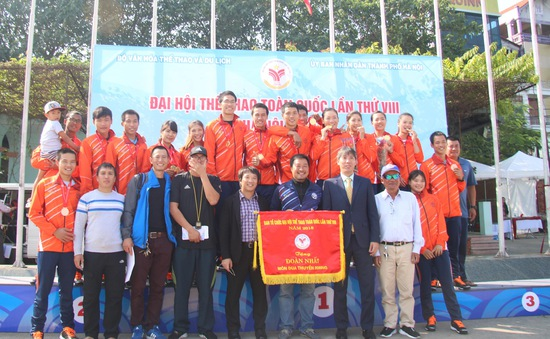 Môn Rowing Đại hội TTTQ 2018: Hà Nội nhất toàn đoàn