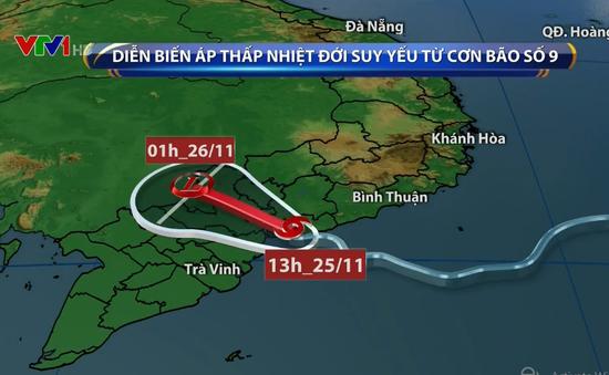 Bão số 9 suy yếu thành áp thấp nhiệt đới, tiếp tục gây mưa lớn ở TP.HCM