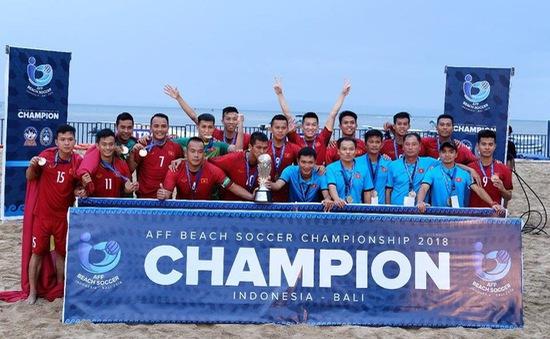 ĐT bóng đá bãi biển Việt Nam đăng quang tại giải vô địch ĐNA