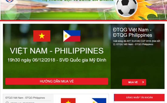 10h00 hôm nay (29/11), tiếp tục bán vé online trận Việt Nam – Philippines