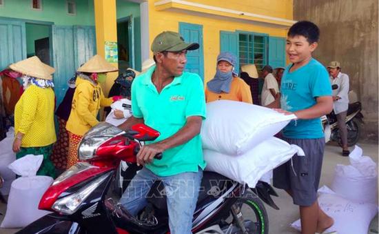 Cấp phát hơn 1.100 tấn gạo hỗ trợ người dân vùng hạn Ninh Thuận
