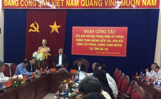 Kiểm tra công tác phòng chống tham nhũng tại Gia Lai và Thái Nguyên