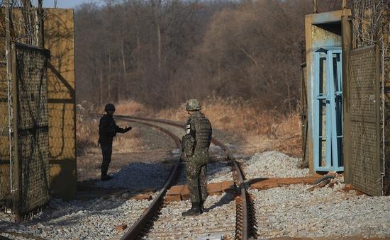 Quan chức Hàn Quốc khảo sát tuyến đường sắt liên Triều