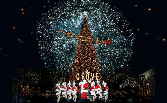 Không khí đón Giáng sinh tại Los Angeles