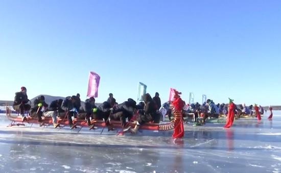 Đua thuyền rồng trên băng tại Trung Quốc