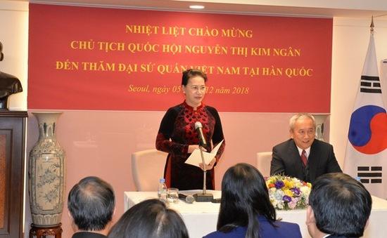 Chủ tịch Quốc hội thăm Đại sứ quán Việt Nam tại Hàn Quốc