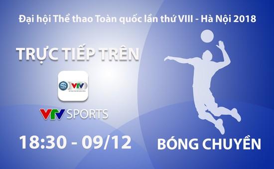 Bóng chuyền nam Đại hội Thể thao toàn quốc 2018: VTV Sports trực tiếp chung kết và tranh HCĐ (18h30 ngày 9/12)