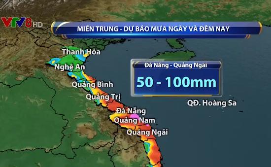 Cảnh báo mưa lớn và sạt lở đất ở Trung Bộ