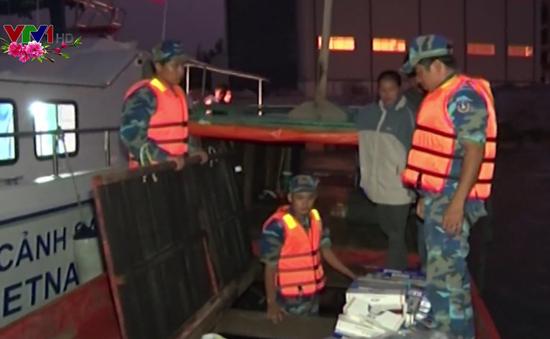 Cảnh sát biển thu giữ gần 18.000 bao thuốc lá nhập lậu