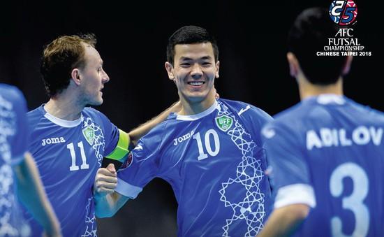 Vượt qua ĐT Iraq, ĐT futsal Uzbekistan giành hạng 3 chung cuộc giải futsal châu Á 2018