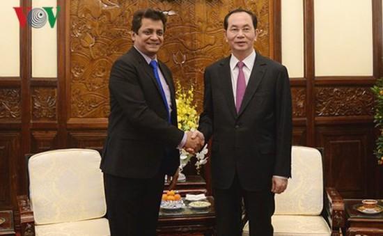 Chủ tịch nước Trần Đại Quang tiếp Tổng Giám đốc Tập đoàn TATA, Ấn Độ