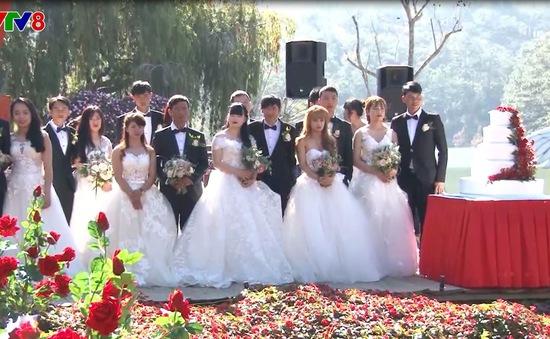 Lễ cưới tập thể trong thung lũng tình yêu Đà Lạt