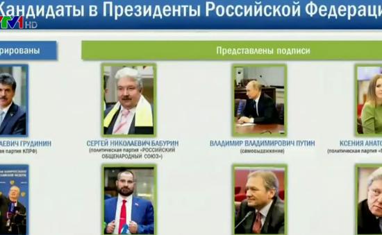 Bầu cử Tổng thống Nga: 7 ứng viên cùng ông Putin vượt qua vòng 1